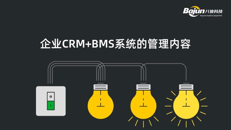 企业CRM+BMS系统的管理内容